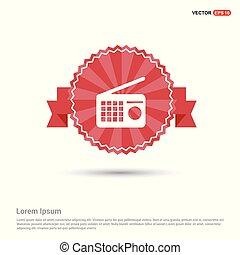 Radio icon - Red Ribbon banner