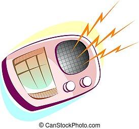 Radio - Illustration of new technology with radio