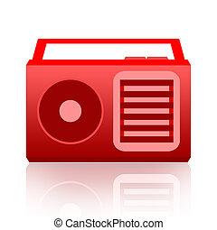 Radio isolated on white background
