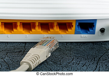 radio, kabel, router, networking
