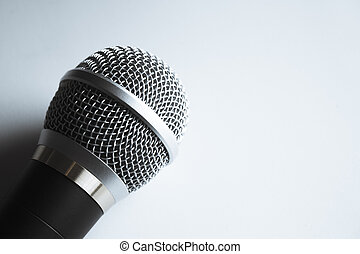 radio, microphone., gente, no, plata