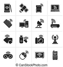 radio, och, signaltjänst, ikonen