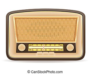 radio old retro vintage icon stock vector illustration