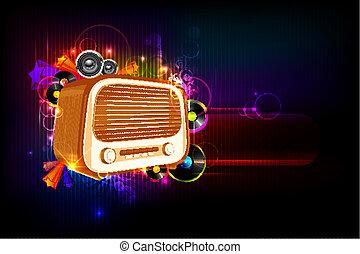 Radio on Musical Background