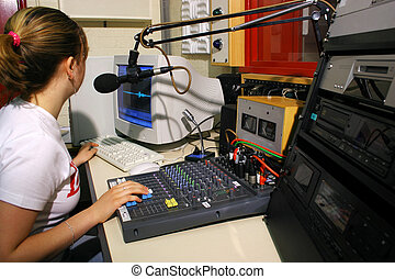 Radio Presenter - Young Student at Radio Mixer