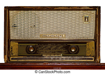 Radio | radio - an old antik brown radio frontside