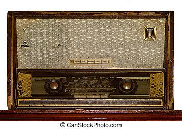 Radio | radio - an old antik brown radio frontside