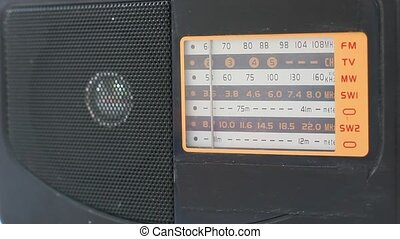 radio receiver dial panel searching
