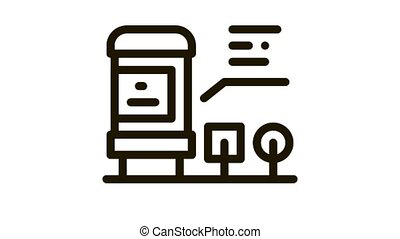 radio resistor Icon Animation. black radio resistor animated icon on white background