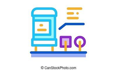 radio resistor Icon Animation. color radio resistor animated icon on white background