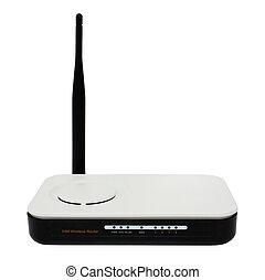 radio, router, weißes, freigestellt