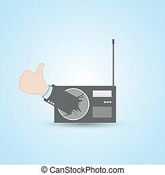 Radio station thumb up