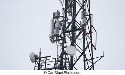 radio station tower watchtower satellite dish radio tv the...
