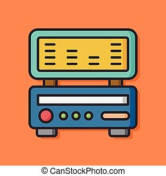 radio stereo equipment icon