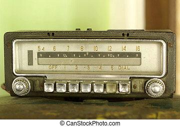 radio, stil, gammal,  retro, Årgång