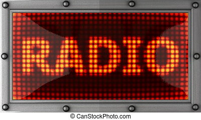 radio  announcement on the LED display