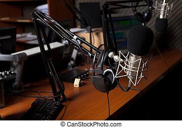 radio, studio