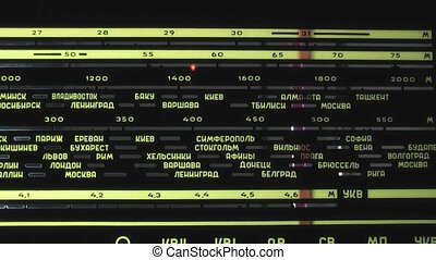 radio, tabela, stary, tuner