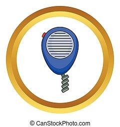 Radio taxi vector icon