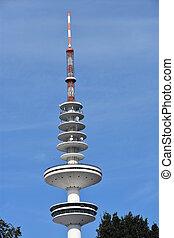 Heinrich Herz Turm in Hamburg, Germany - Radio...