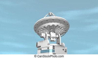 """Radio telescope, communication facility."" - ""Computer ..."