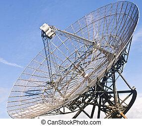Radio Telescope Dish - A close-up of the immense satellite...