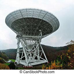Radio Telescope Effelsberg - With a diameter of 100 meters,...