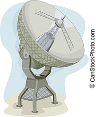 Radio Telescope - Illustration of a Radio Telescope...