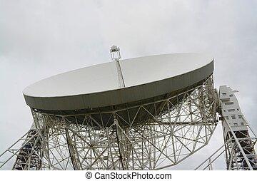 Radio telescope - The Lovell radio telescope, Jodrell bank,...