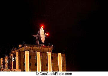 Radio Telescope - Radio telescope on building.
