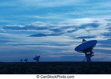 Radio telescope - A group of radio telescopes at the Very...