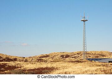 Radio tower between dunes 2