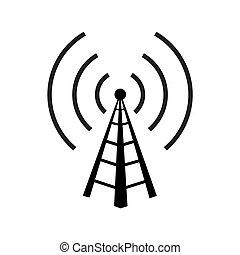 radio, turm
