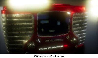 radio, vendange, retro, façonné, vieux