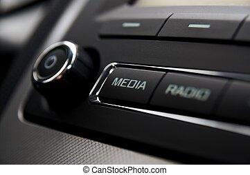 radio voiture, détail