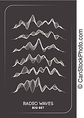 Radio waves vector. Radio frequency identification. Wireless communication. Sound waves abstract vector illustration