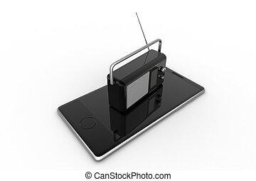 Radio with smart phone