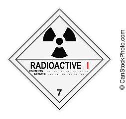 radioactief, waarschuwingsetiket