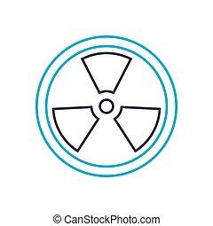 Radioactive analysis vector thin line stroke icon. Radioactive analysis outline illustration, linear sign, symbol concept.