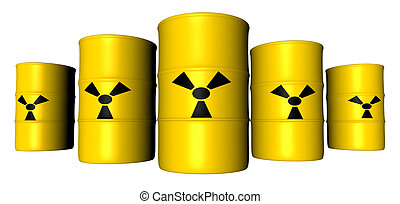 Radioactive Barrels - Barrels filled with radioactive Trash...