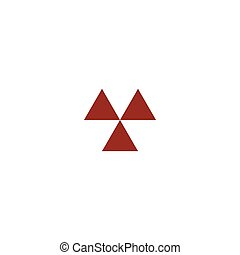 Radioactive danger sign. Vector icon