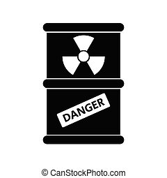 Radioactive Danger Vector Radiation Warning Sign Toxic Nuclear Barrel Icon Illustration