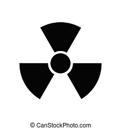 Radioactive Danger Vector Radiation Warning Sign Toxic Nuclear Icon Black Illustration