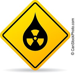 Radioactive fallout vector sign isolated on white background