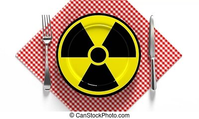 Radioactive food. Food contaminated with radiation. ...