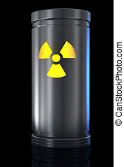 Radioactive material - Container with radioactive material...