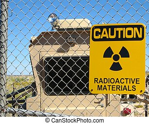 Radioactive materials - Sign warning for the presence of ...