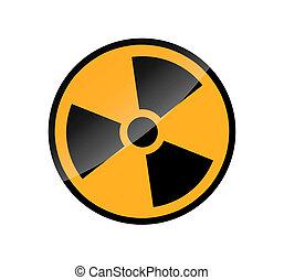Radioactive round sign isolated on white