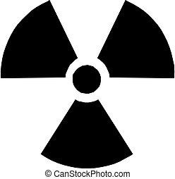 Radioactive round sign