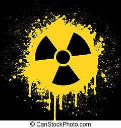 radioactive sign - vector illustration of the radioactive...